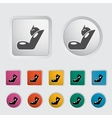 Child car seat icon vector