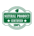 Green colored natural product label vector