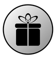 Gift button vector