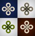 Paper endless celtic knots vector