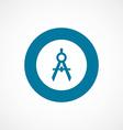Compasses bold blue border circle icon vector