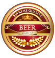 Beer label vintage design vector