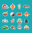 China icons stickers vector
