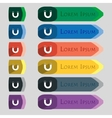 Magnet sign icon horseshoe it symbol repair sign vector