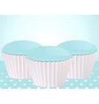 Blue cupcakes vector