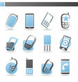 Mobile phones - logo template set vector