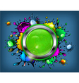 Signboard color paint droplets vector