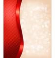 Holiday background with red gift ribbon vector