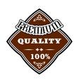 Premium quality retro label vector