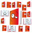 Red book cartoon vector