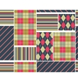Big plaid pattern set vector
