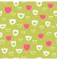 Seamless pattern with tulips and grass floral vector