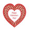 Heart of rubies card vector