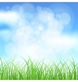 Natural spring background vector