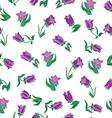 Floral design with purple flowers vector