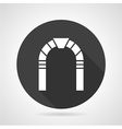 Round arch black icon vector