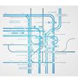 Infographics subway transportation plan vector