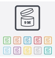 After opening use 9 months sign icon vector