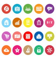 Smart phone flat icons on white background vector