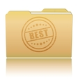 Folder with best damaged stamp vector