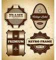 Set of big vintage labels vector