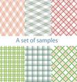Set of original color samples vector