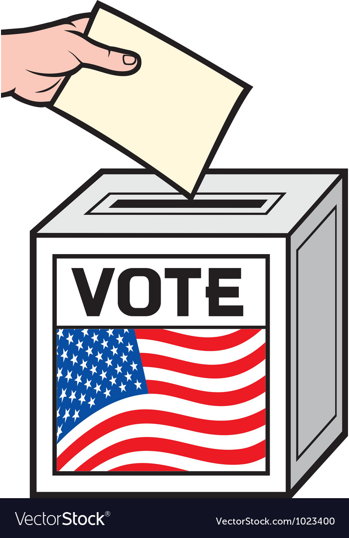 A ballot box with the flag vector | Price: 1 Credit (USD $1)