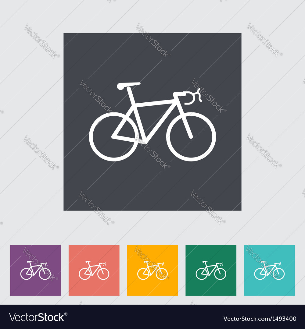 Bicycle flat icon vector | Price: 1 Credit (USD $1)