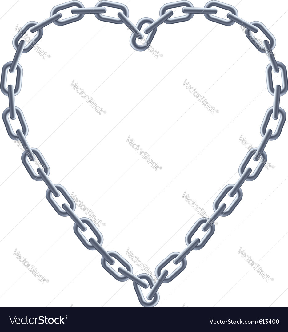 Chain silver heart vector | Price: 1 Credit (USD $1)