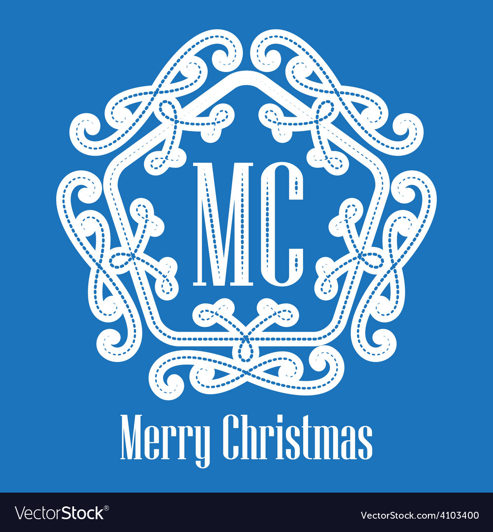 Christmas decorative lace elegant hipster logo vector | Price: 1 Credit (USD $1)