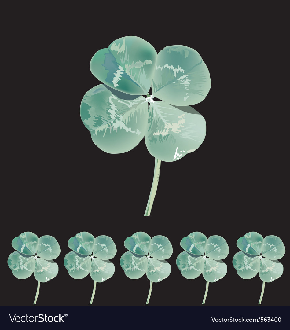 Clover vector | Price: 1 Credit (USD $1)