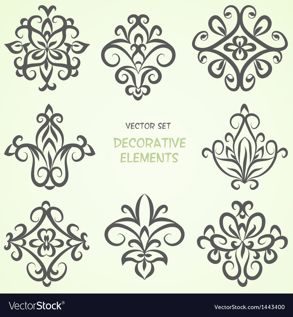 Ethnic decorative elements collection vector | Price: 1 Credit (USD $1)