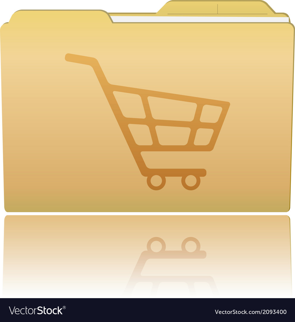Folder with shopping cart vector | Price: 1 Credit (USD $1)