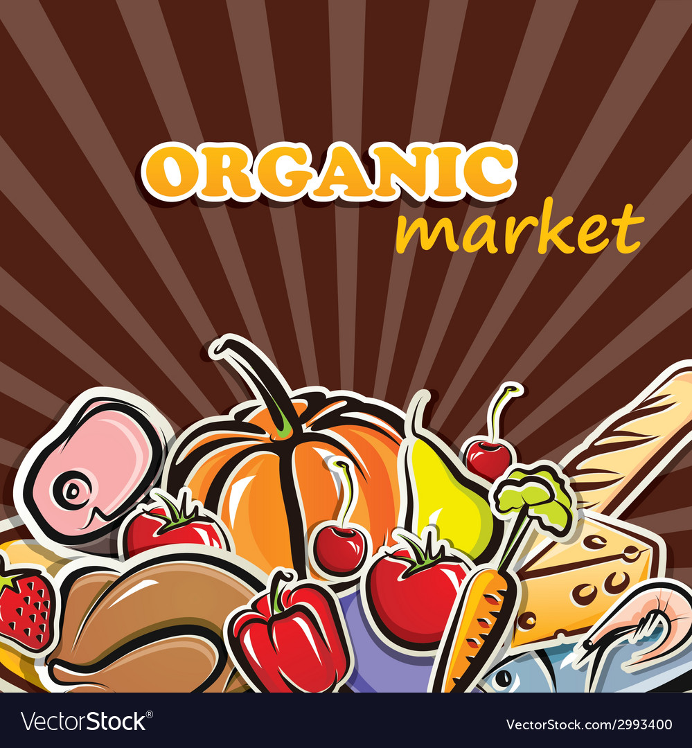 Food organic food concept vector | Price: 1 Credit (USD $1)