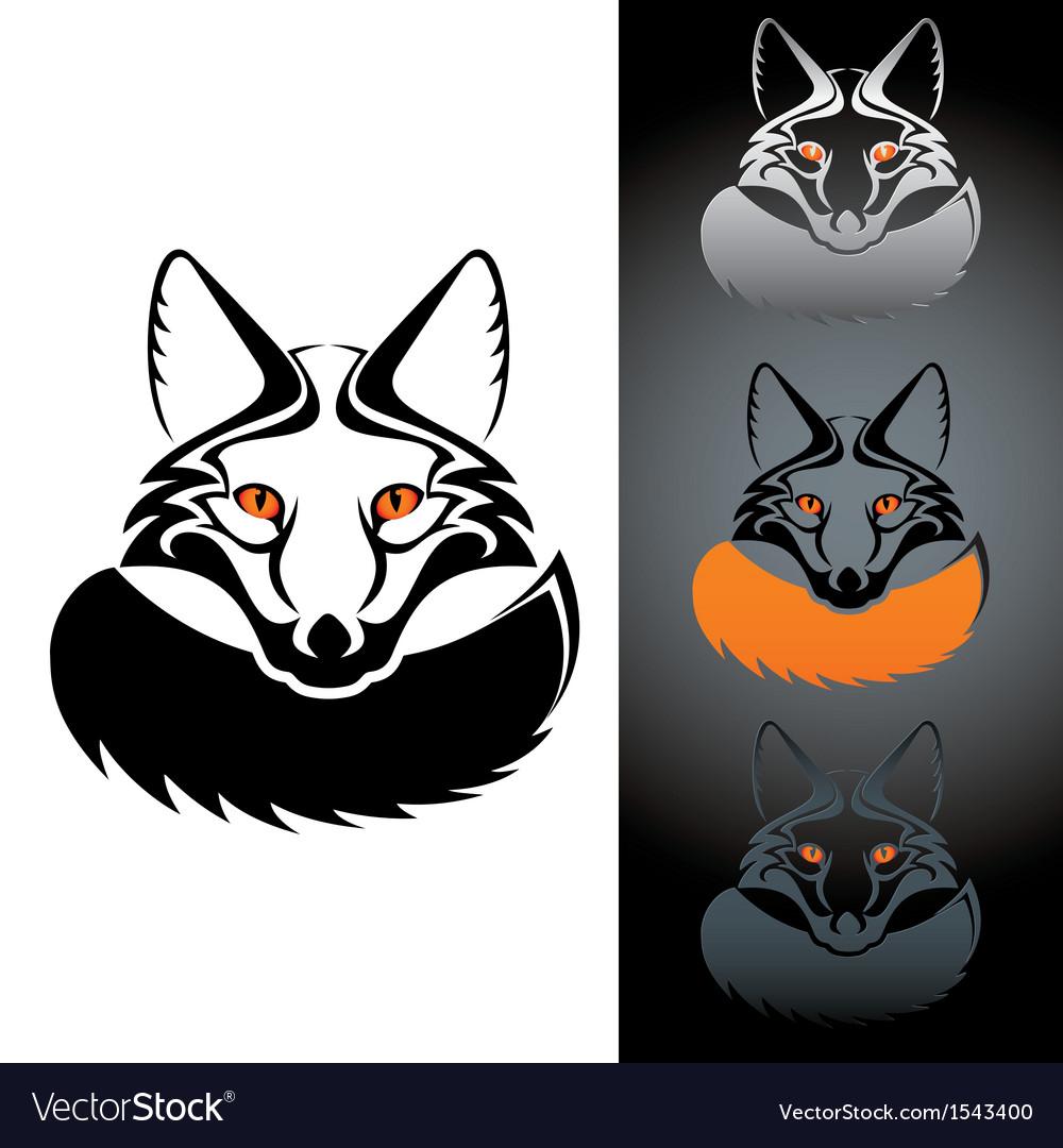Logo fox vector