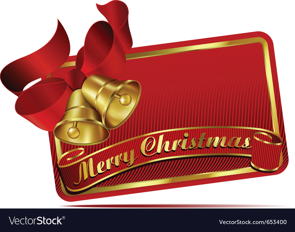 Merry christmas bells web banner vector | Price: 1 Credit (USD $1)