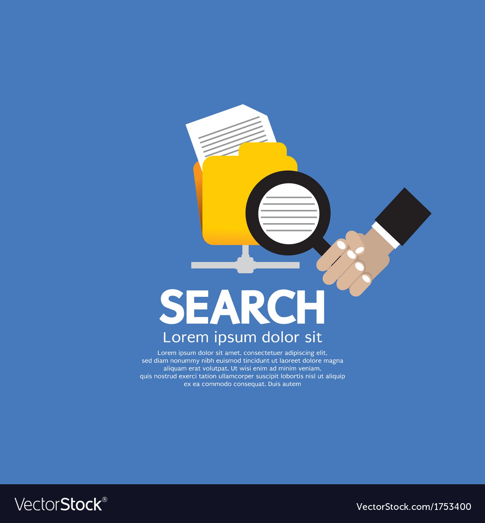 Search concept vector | Price: 1 Credit (USD $1)