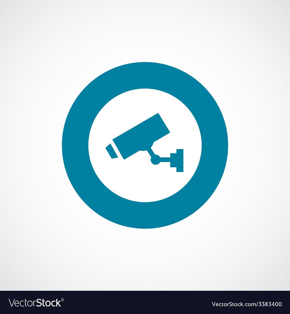 Security camera bold blue border circle icon vector | Price: 1 Credit (USD $1)