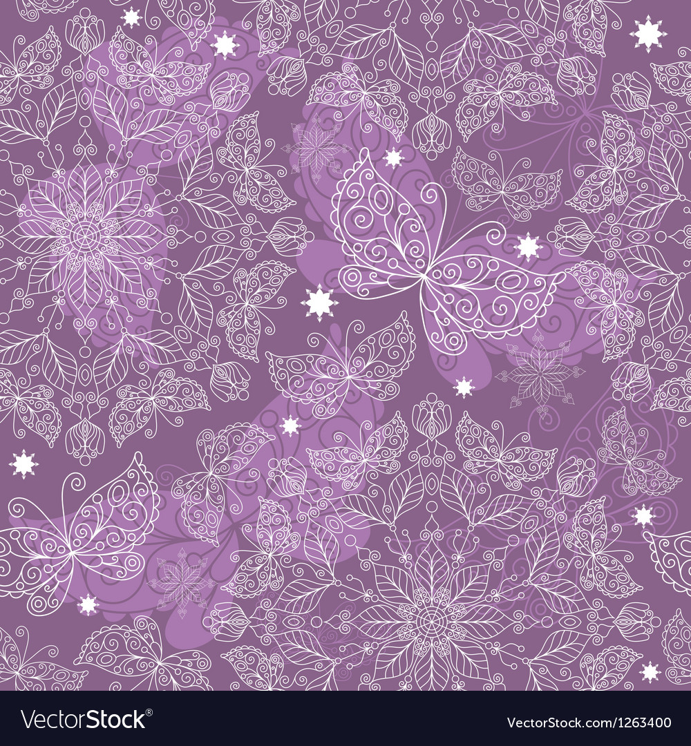 Vintage lacy seamless pattern vector | Price: 1 Credit (USD $1)