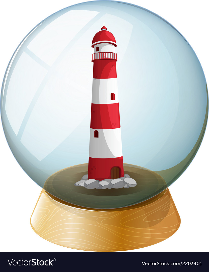 A lighthouse inside the crystal ball vector | Price: 1 Credit (USD $1)
