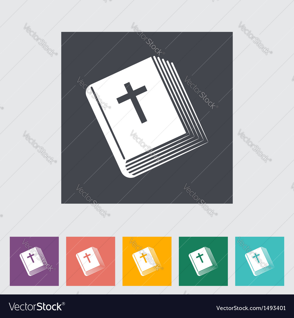 Bible flat single icon vector | Price: 1 Credit (USD $1)