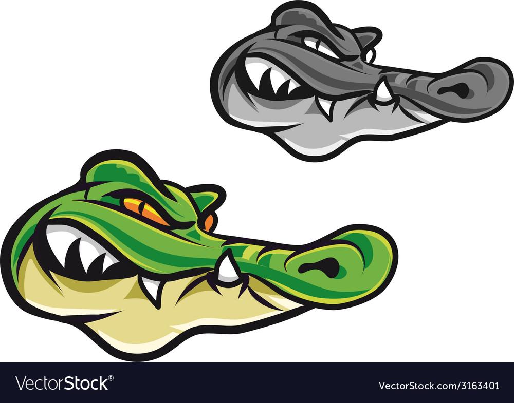 Cartoon crocodile head vector | Price: 1 Credit (USD $1)