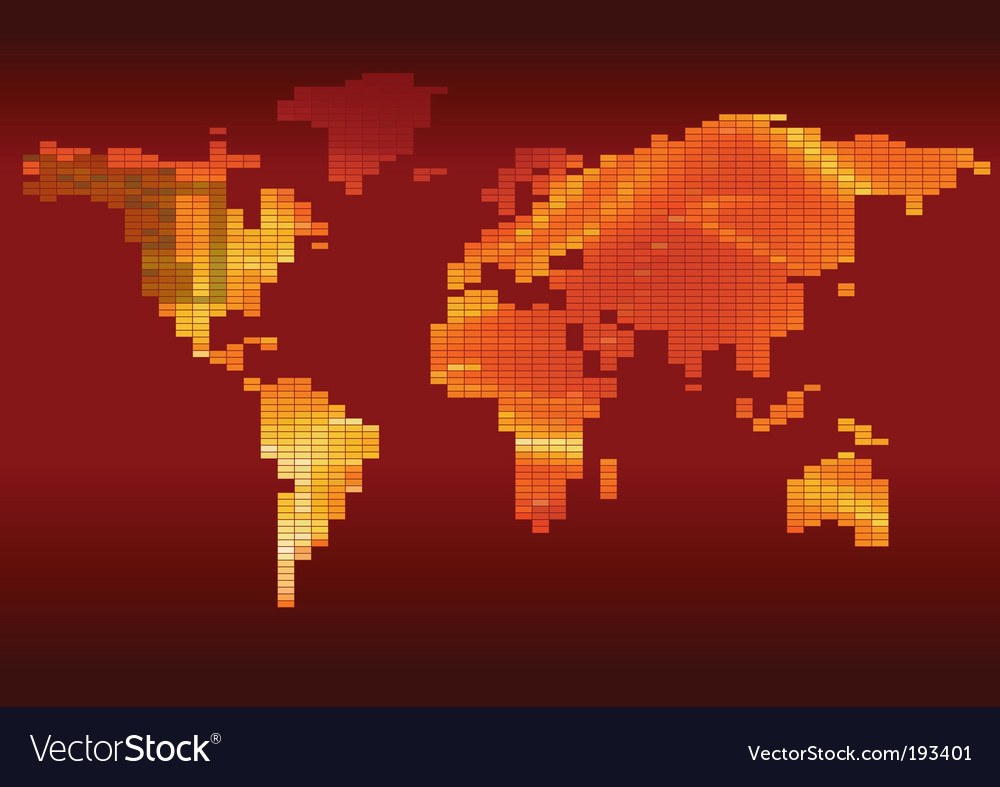 Checkered world map vector | Price: 1 Credit (USD $1)
