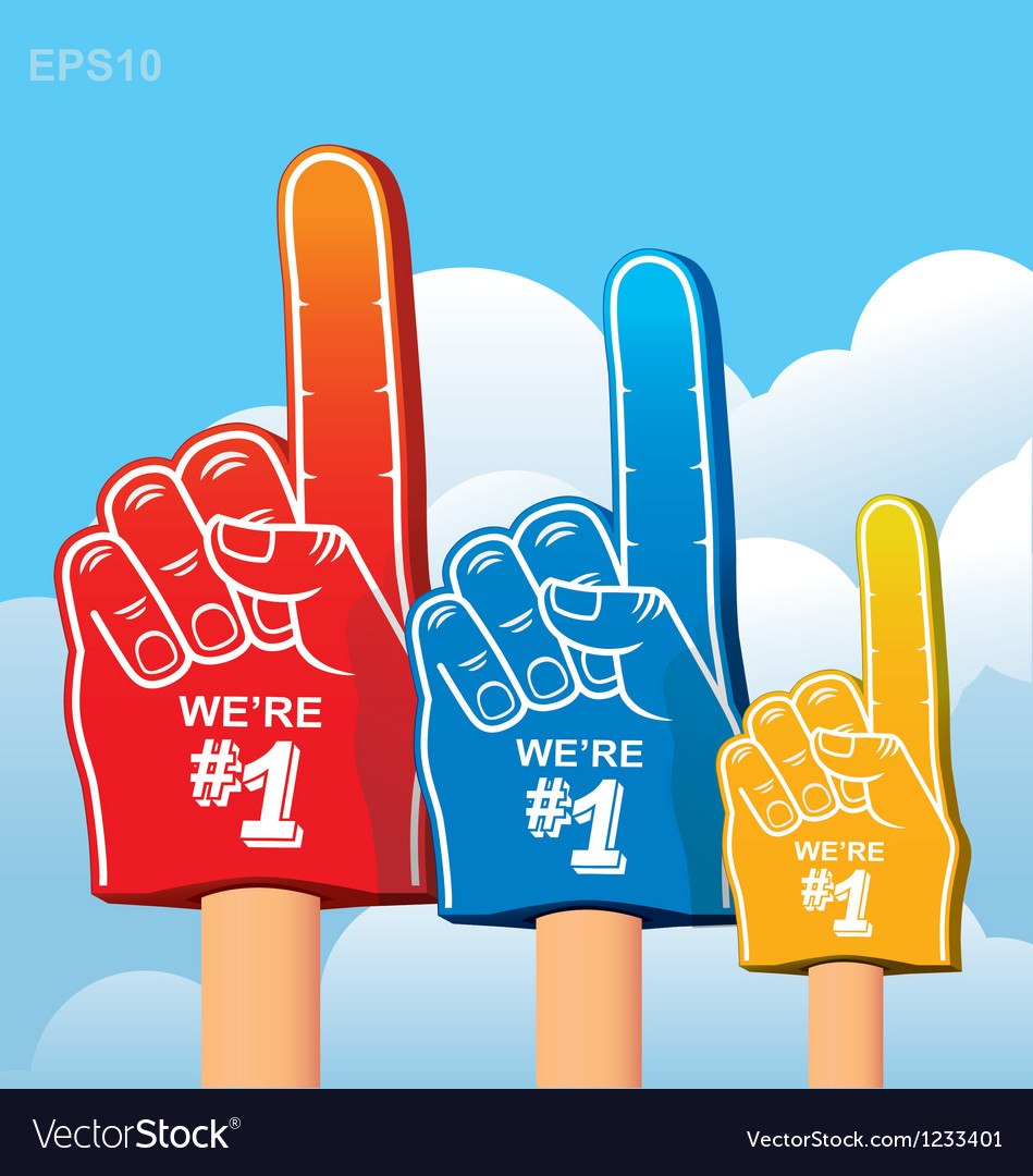 Foam finger fan vector | Price: 1 Credit (USD $1)