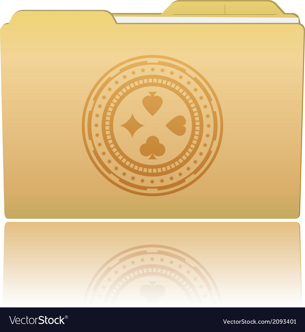 Folder with casino chip vector | Price: 1 Credit (USD $1)