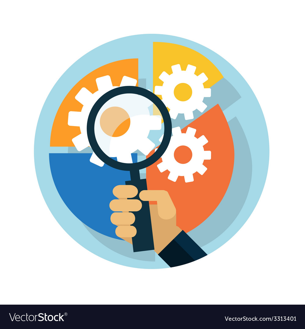 Idea concept with magnifying glass vector | Price: 1 Credit (USD $1)