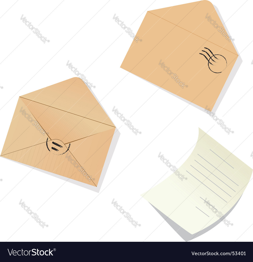 Letter and envelopes vector | Price: 1 Credit (USD $1)