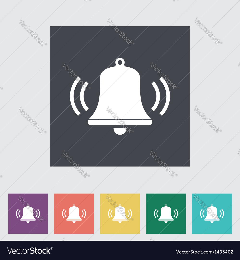 Bell flat icon vector | Price: 1 Credit (USD $1)