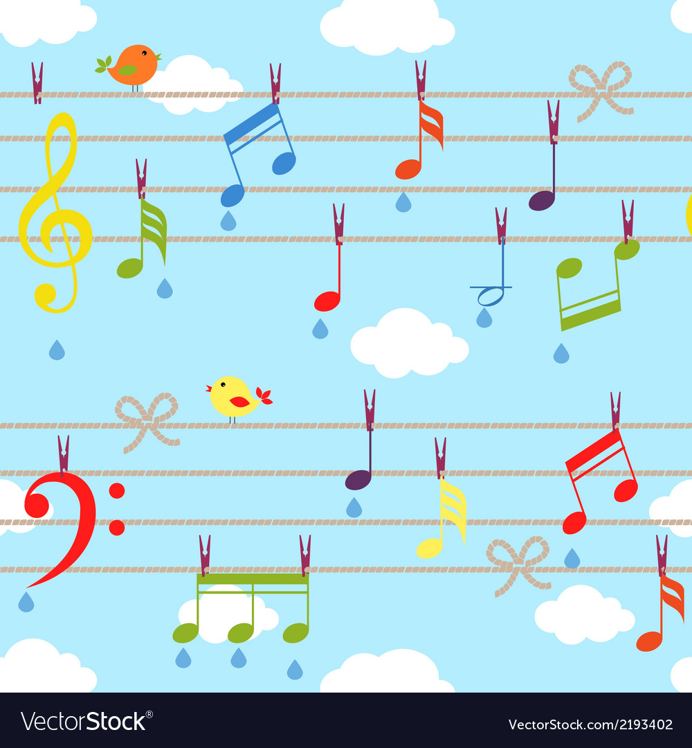 Birds and music vector | Price: 1 Credit (USD $1)