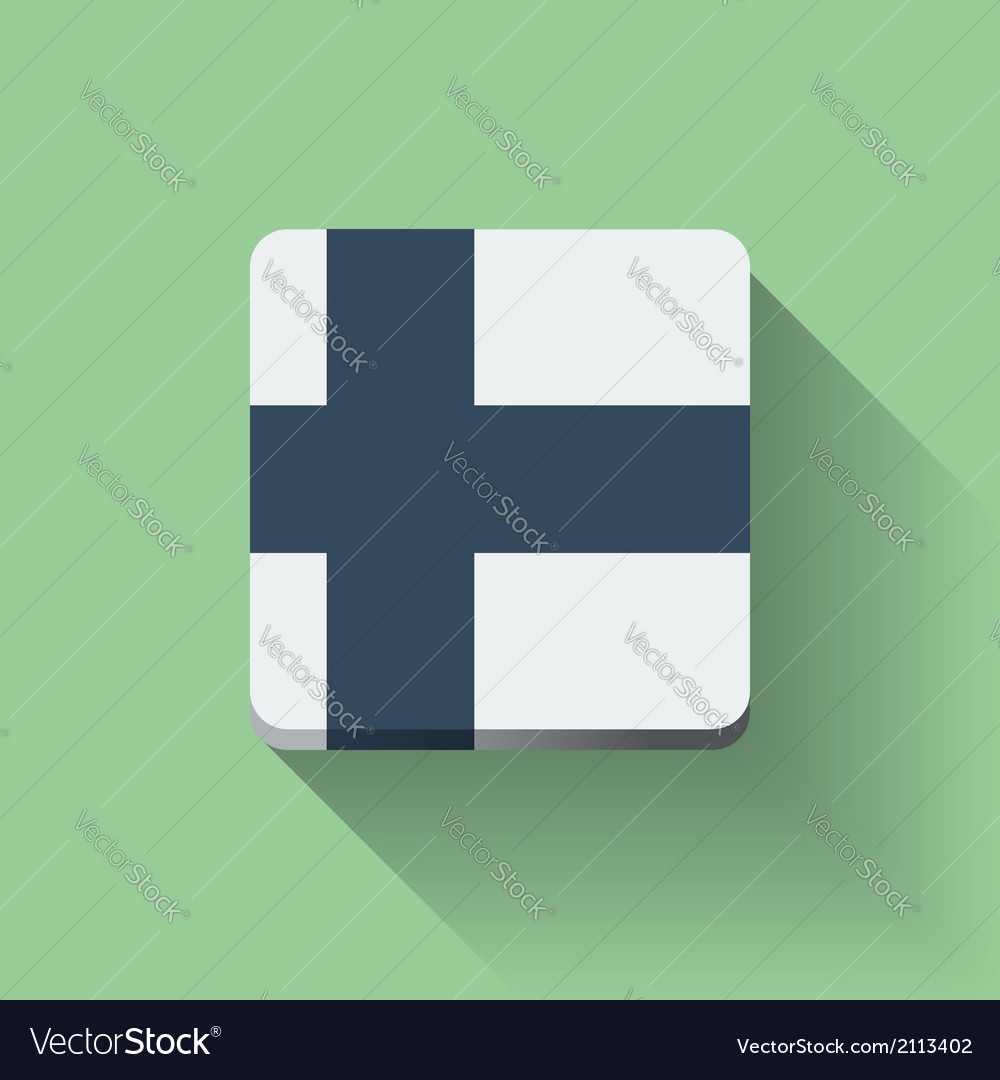 Button with flag of finland vector | Price: 1 Credit (USD $1)
